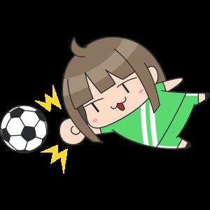 女子サッカーのゴールキーパーのイラスト【無料・フリー】
