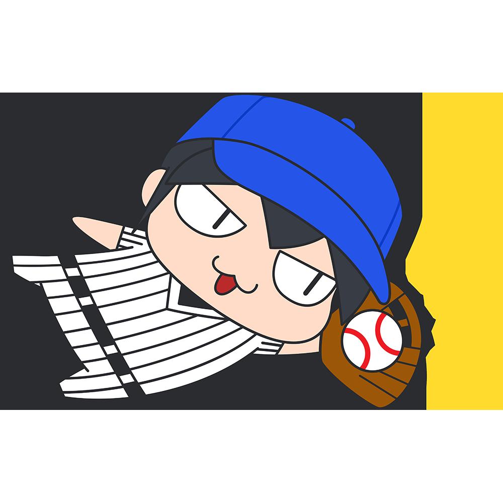 野球:ダイビングキャッチをする選手のイラスト【無料・フリー】