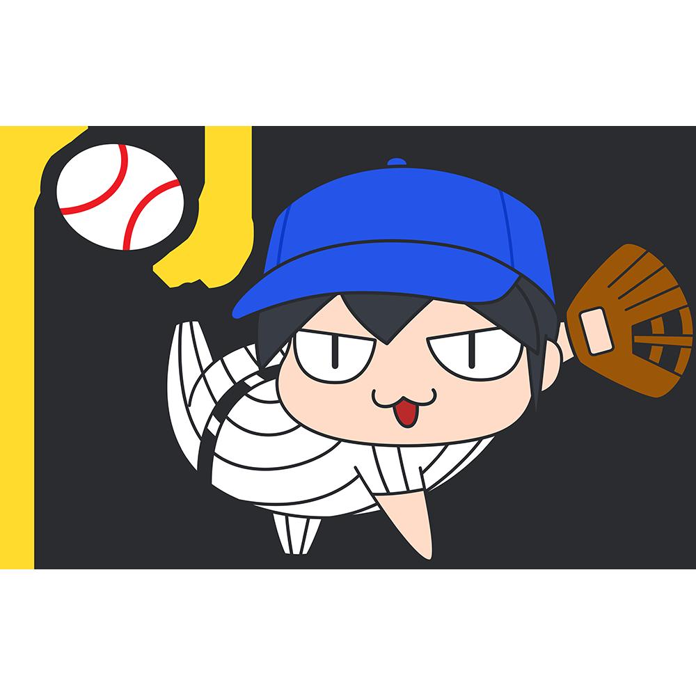野球:ボールを投げる選手のイラスト【無料・フリー】