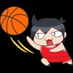 バスケ:レイアップシュートをする選手のイラスト【無料・フリー】