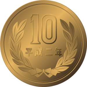 お金:リアルな10円硬貨のイラスト【無料・フリー】