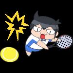 テニス:スマッシュをする選手のイラスト【無料・フリー】