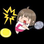 テニス:スマッシュをする女子選手のイラスト【無料・フリー】