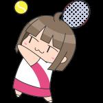 テニス:サーブをする女子選手のイラスト【無料・フリー】