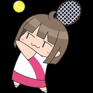 テニス:サーブをする女子選手
