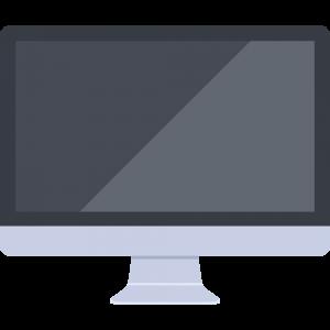 反射ありのiMac風パソコン