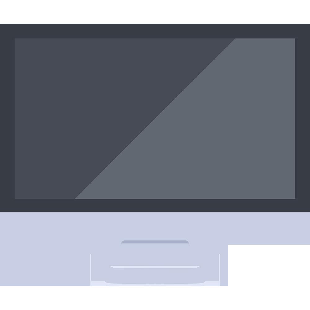 反射するパソコン(iMac)の無料イラスト