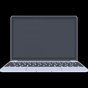 MacBook風のノートパソコンのイラスト【無料・フリー】