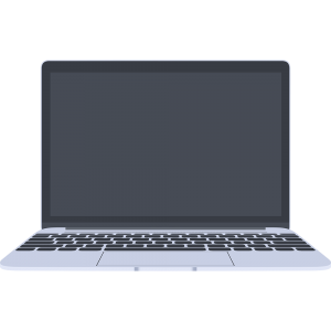 MacBook風のノートパソコン
