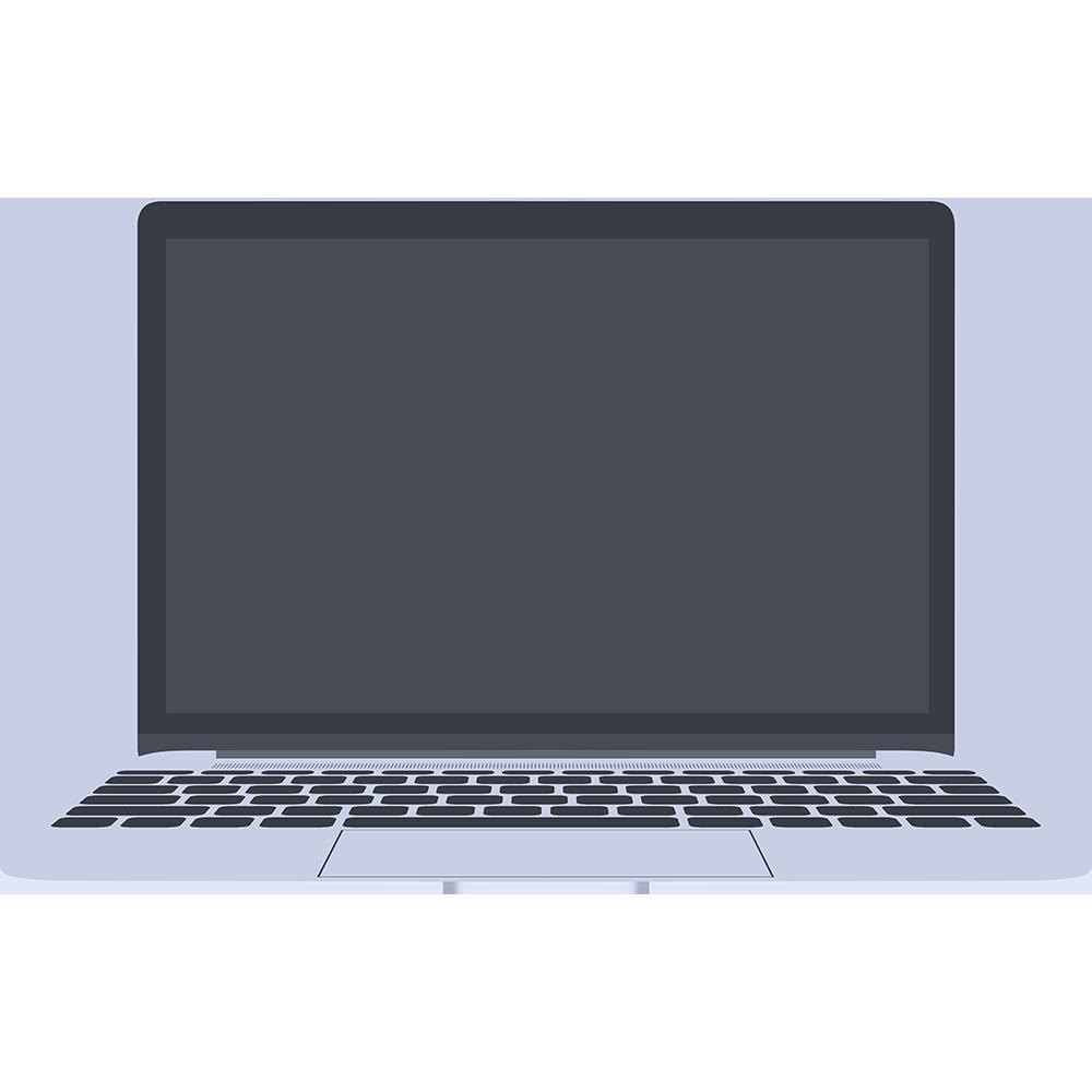ノートパソコン(MacBook)の無料イラスト