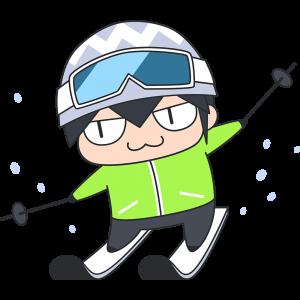 スキーをする選手