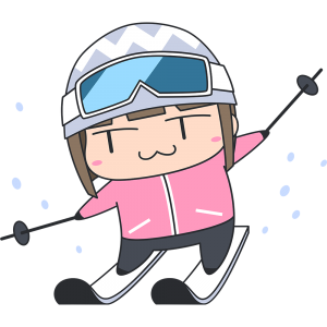 スキーをする女子選手