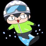 スノーボードをする男子選手のイラスト【無料・フリー】