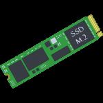 M.2対応のSSDの無料イラスト
