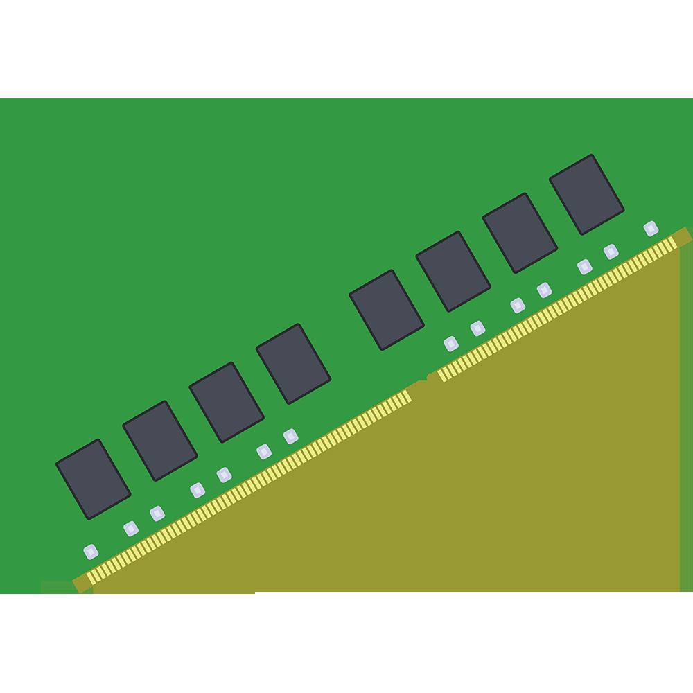 パソコンのメモリーの無料イラスト