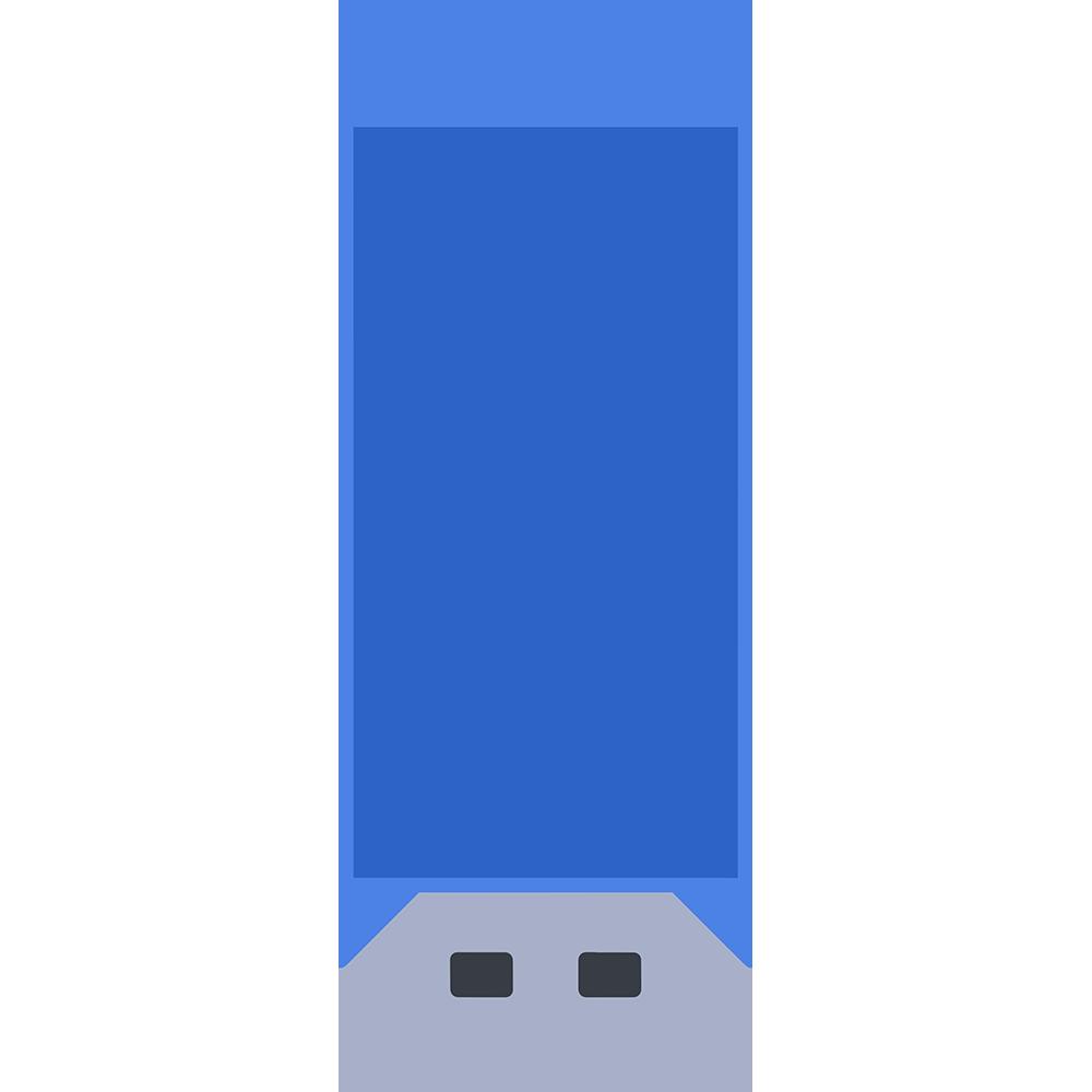 青いフラッシュメモリーのイラスト【無料・フリー】
