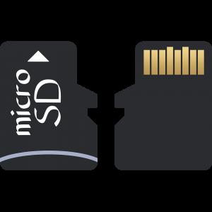 microSDカードのイラスト【無料・フリー】