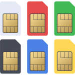 標準SIMカードの無料イラスト