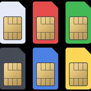標準SIMカードのイラスト【無料・フリー】