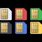 microSIMカードの無料イラスト