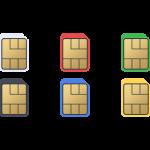 nanoSIMカードの無料イラスト