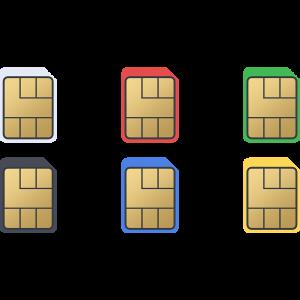 nanoSIMカードのイラスト【無料・フリー】