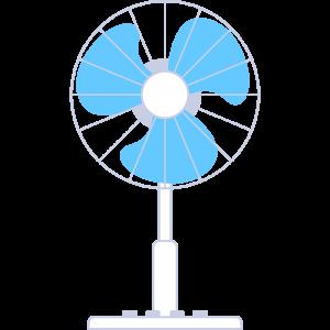 扇風機のイラスト【無料・フリー】