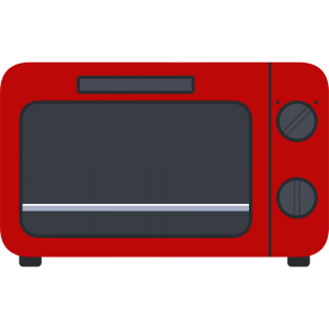 赤いオーブントースターのイラスト【無料・フリー】