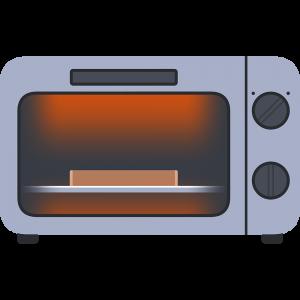 パンを焼くオーブントースター