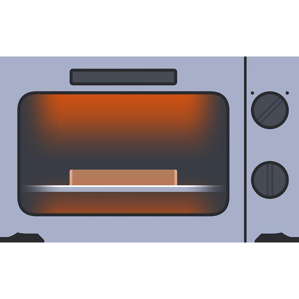 パンを焼くオーブントースターのイラスト【無料・フリー】
