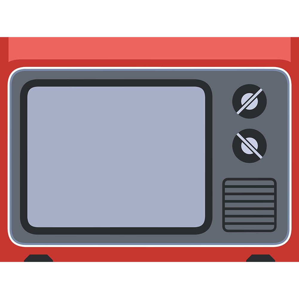 ブラウン管テレビの無料イラスト