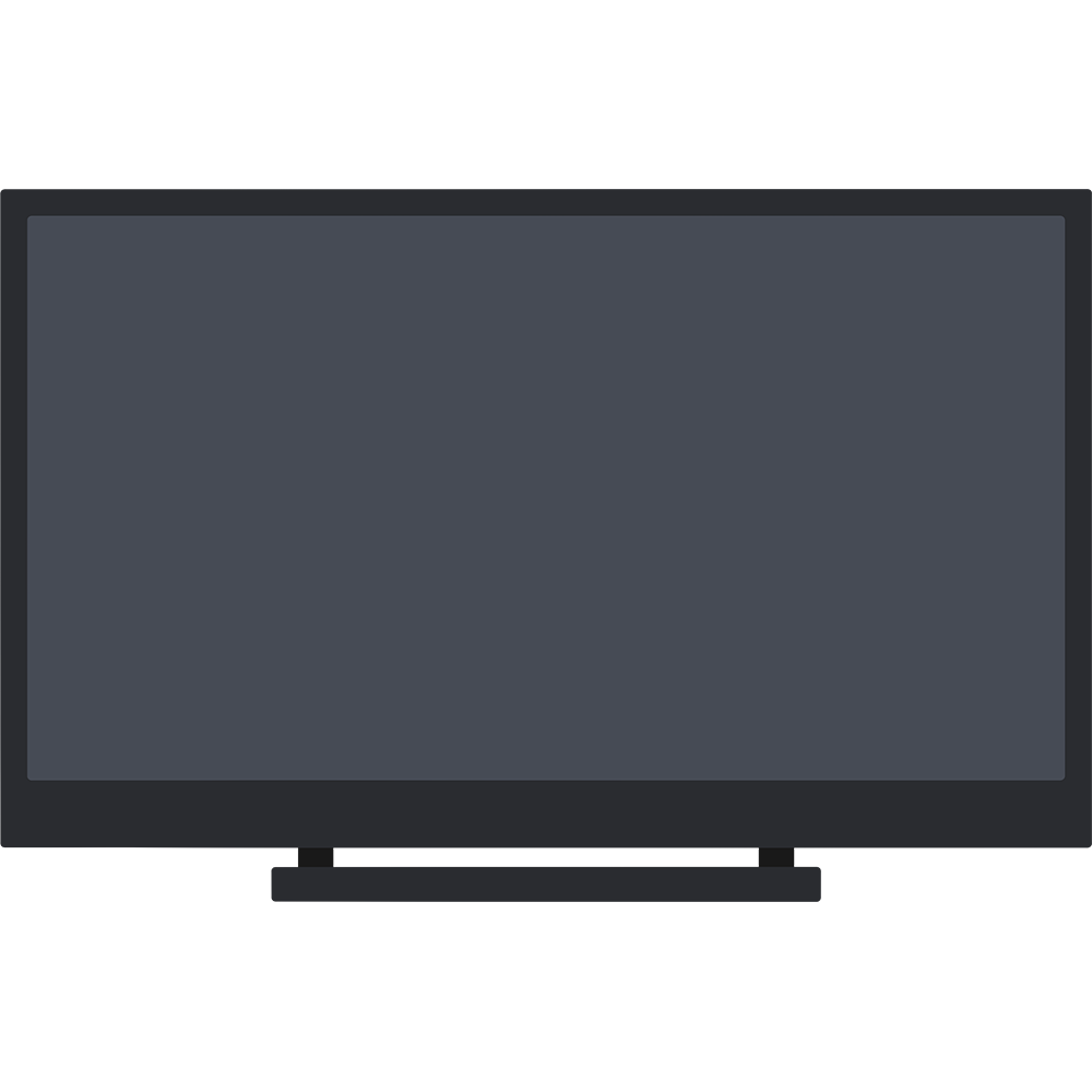 液晶テレビの無料イラスト