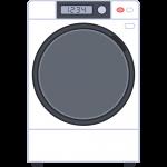 ドラム式洗濯機の無料イラスト