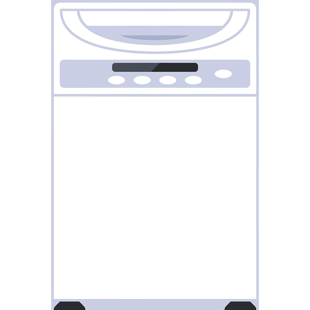 洗濯機の無料イラスト