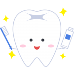 歯磨きキャラクターの無料イラスト