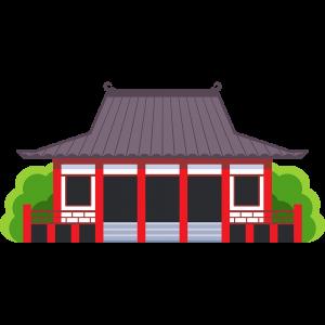お寺の無料イラスト