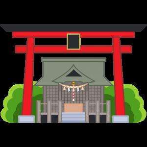 神社の無料イラスト