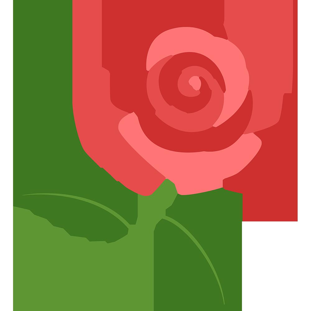 一輪のバラの無料イラスト