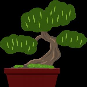 盆栽の無料イラスト