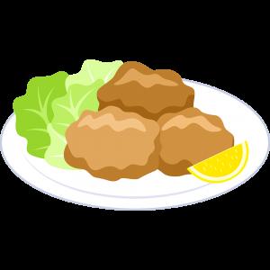 鶏の唐揚げの無料イラスト
