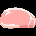 豚ロース肉の無料イラスト