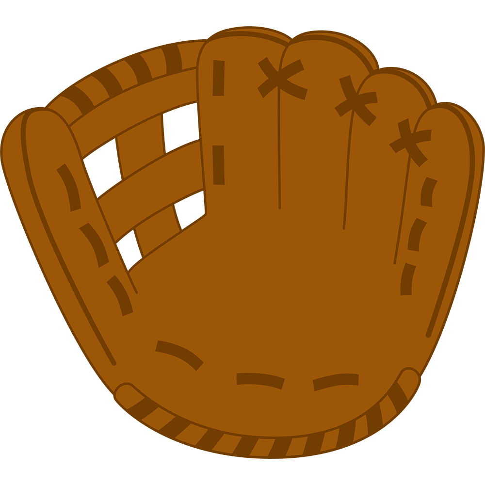 野球:グラブの無料イラスト
