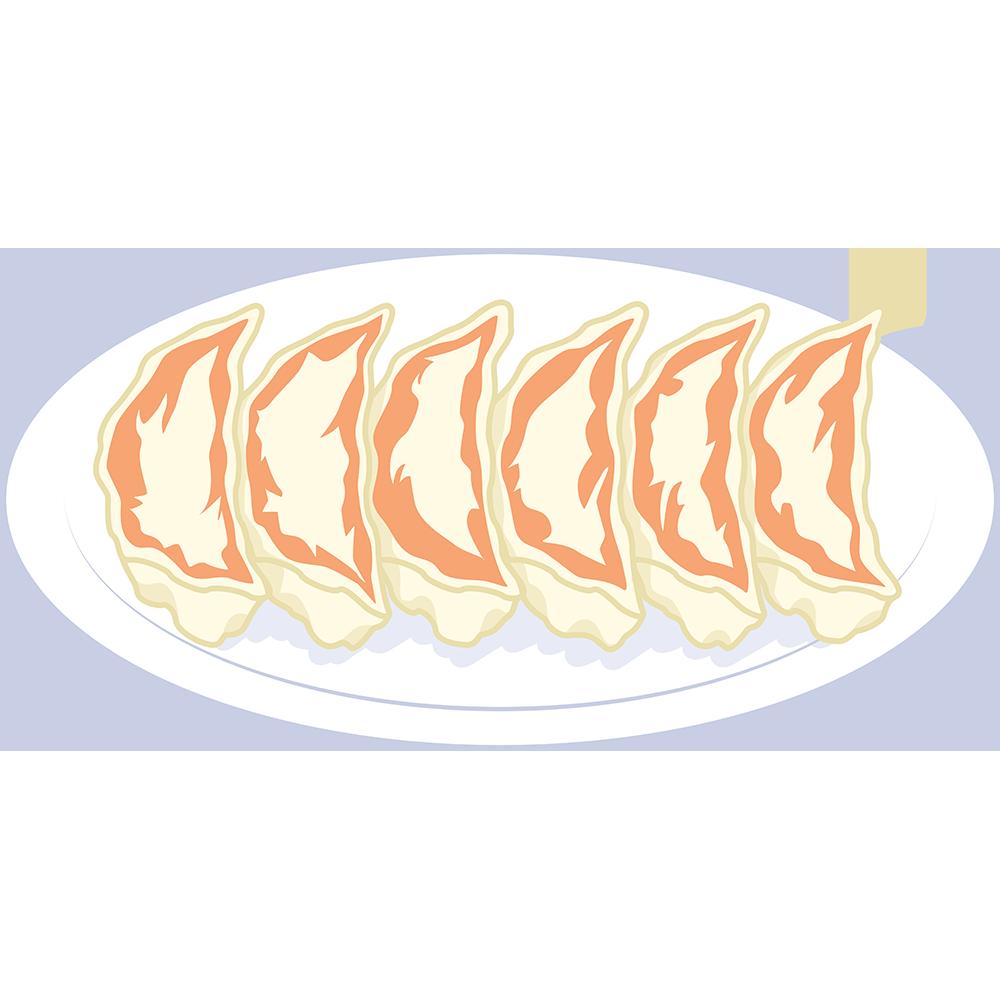 焼き餃子の無料イラスト