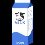 牛乳パックの無料イラスト