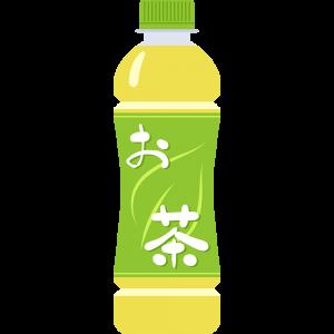 お茶(ペットボトル)の無料イラスト