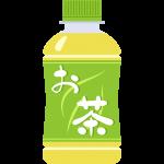 お茶(ミニペットボトル)の無料イラスト