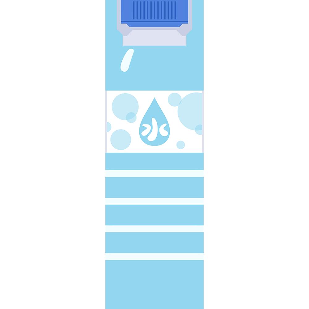 ミネラルウォーター(水)の無料イラスト