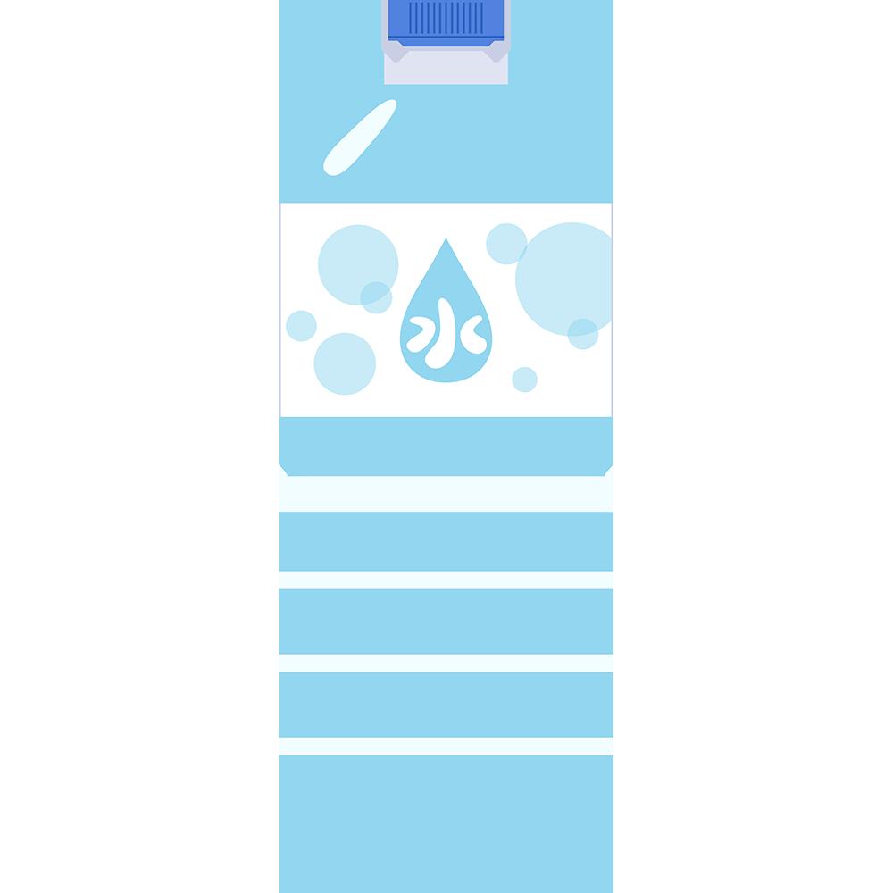2Lのミネラルウォーター(水)の無料イラスト