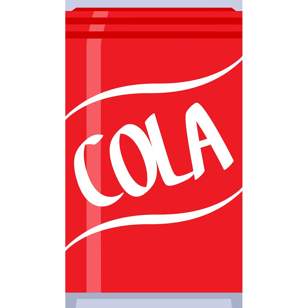 コーラ(缶)の無料イラスト
