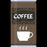 缶コーヒーの無料イラスト